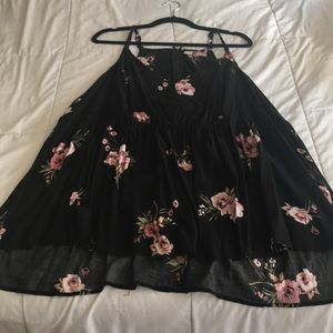 Halter top black blouse